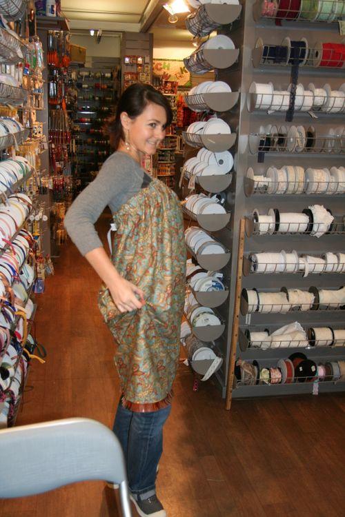 La Perchée et sa superbe robe bustier