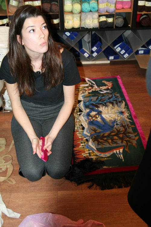 Oriane et son tapis