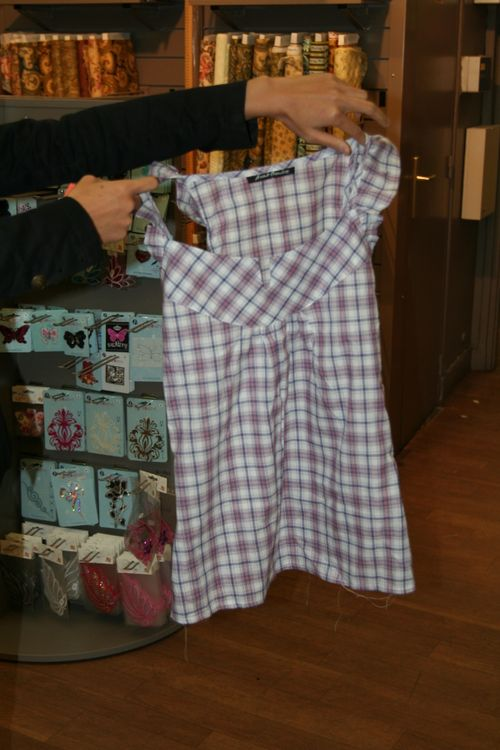Receintrage de chemise par Angie